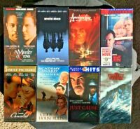 Lot of 8 VHS Tapes: Chocolat, The Cider House Rules, A Murder of Crows, Mystic..