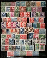 Sweden Scott 77 // 491 Mint hinged - 2 used (many sets, clean lot) - CV $126.95