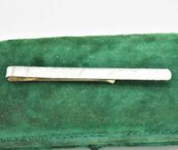Vintage Sterling Silver tie clip / slide Art Deco Peaky Blinders Wedding #Y461
