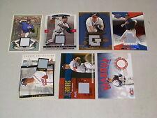 Greg Maddux Jersey Relic Lot of 7 Cards w/ Donruss, Fleer, #d Nice! HOF GS