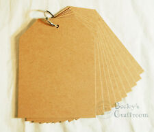 """Bare Chipboard Mini Tag Album 4-3/16"""" x 5.5"""" 10 pages 1 ring"""