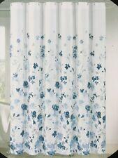 Cynthia Rowley Emelia Floral Shower Curtain White Blue NEW