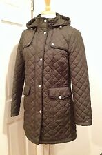 NWT Tommy Hilfiger Womens Lightweight Long Jacket Hood Coat Olive S Small
