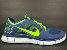 Nike Free Run 3 Mens Size 12.5 Shoes Electric Green Blue Seahawks 510642 404