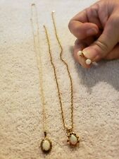 14 Kt. and 10 kt  Gold and opal Jewerly Lot not scrap