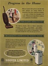 HOOVER ADVERT. Vacuum cleaner. washing machine. Domestic appliances 1951 print