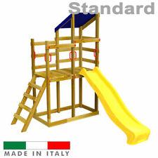 Scivolo per bambini Torre Doppia Serie Luna Parco Giochi Giardino Esterno