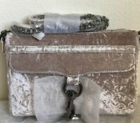 NWT Authentic Rebecca Minkoff Velvet Mini M.A.C Crossbody Bag $175 in Putty