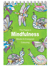 ADULT COLOURING BOOK SET Spiral Mindfulness Relaxing Anti-Stress 90 Patterns