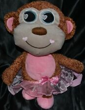 "15"" Ballerina Monkey Backpack Girls Toys Plush Doll Bag Kids Wearing Tutu Ballet"