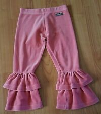 Matilda Jane Size 4 Girls Orange/Salmon Velvet Velour 2 Ruffle Pants=LOOK UNWORN