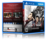Yakuza 3 & Yakuza 4: Remastered Collection- CustomPS4 Cover and Case. NO GAME!!