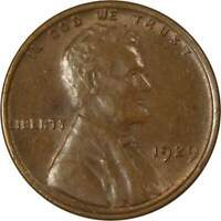 1929 Lincoln Wheat Cent AU About Uncirculated Bronze Penny 1c Coin Collectible