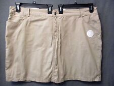 "CROFT & BARROW stretch SKORT plus size 24W "" NEW TAUPE "" KHAKI TAN NWT #2513"