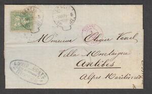 Switzerland 1875 25c Green Entire