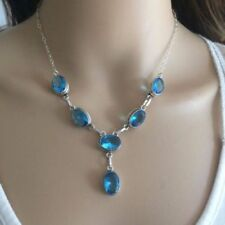 Handmade Oval Topaz Fine Necklaces & Pendants
