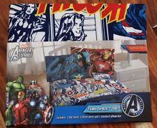 NEW Marvel Avengers Assemble 3 piece TWIN size Sheet Set Bedding Kids