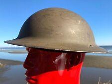 DATED 1942 WW2 BRODIE Canadian Invasion MK Helmet CL 7C w/ VMC I 1941 LINER WAR