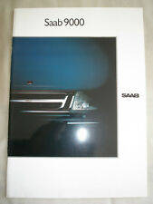 Saab 9000 range brochure 1989 German text
