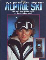 Taito ALPINE SKI Original 1982 NOS Retro Video Arcade Game Promo Sales Flyer
