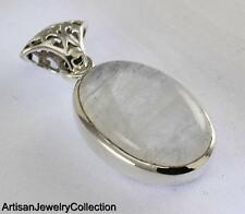 RAINBOW MOONSTONE PENDANT 925 STERLING SILVER ARTISAN JEWELRY COLLECTION Y151B
