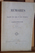 AUDE/ ARTS & SCIENCES CARCASSONNE T. I, 1905/ CAUNES, BIBLIOGRAPHIE, COMMUNES...