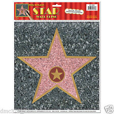 1 HOLLYWOOD Movie Night Party Decor Peel N Place Floor STAR CLING Walk of Fame