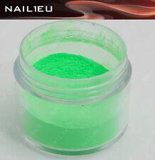 """PROFESSIONALE COLORE ACRILICO POLVERE """" nail1eu Verde fosforescente """" 7 g /"""
