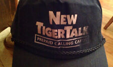 Vintage NEW TIGERTALK Prepaid Calling Cards Black Baseball Cap/Hat One size all