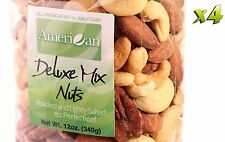 48oz Gourmet Style Bags of Delectable Roasted Salted Deluxe Mixed Nuts [3 lbs.]