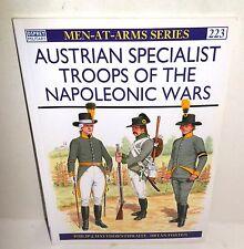 BOOK Osprey MAA # 223 Austrian Specialist Troops of the Nap. Wars 1996 Ed op
