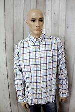HARMONT & BLAINE Camicia Uomo Shirt Casual Manica Lunga Cotone Chemise Taglia XL