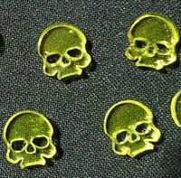 TTCombat Wargames - Wound Markers - Yellow Transparent Acrylic Skulls x 8