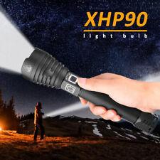300000 Lumen Taschenlampe Zoombar XHP90 LED Wiederaufladbar Licht mit 26650 Akku
