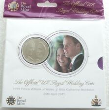 2011 Royal Mint Royal Wedding William and Kate £5 Five Pound Coin Pack Sealed