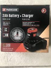 Parkside 12V 2Ah Battery PAPK 12 A2 + Charger PLGK 12 A2