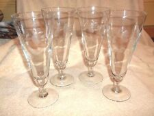 Set of 4 Princess House Heritage 10oz Pilsner Glasses