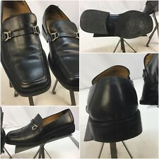 best website 699f4 b56d7 Todd Welsh Loafers Shoes Sz 8 Black Horse Bit Leather Made Italy Vibram YGI  J7