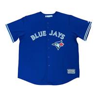 Majestic MLB Toronto Blue Jays Jersey Sewn Stitched Button Up Mens Size XL