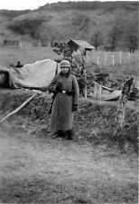 WWII B&W German Photo Lone German Soldier Mauser K98k  WW2 / 2137