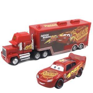 Disney Pixar Cars 3  Lightning McQueen Mack Truck & Car 1:55 Diecast Toys Loose