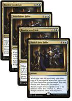 4X Banish into Fable Playset MTG Magic Gathering ELD Throne NM FREE SHIPPING