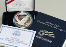2008 Bald Eagle Proof 90% Silver Dollar Commemorative US Mint Coin Box and COA