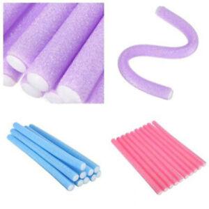 10pcs Curler Makers Soft Foam Bendy Twist Curls DIY Hair Rollers-> Styling C4P6
