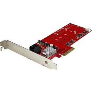 Startech.com 2x M.2 Ngff Ssd Raid Controller Card Plus 2x Sata Iii Ports - Pcie