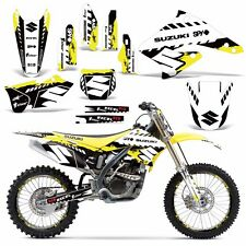 Decal Graphic Kit Suzuki RMZ 250 Dirt Bike Number Background Deco RMZ250 4-06 WR