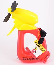NEW Walt Disney World Parks Mickey Mouse Misting Fan Red Yellow Black with strap
