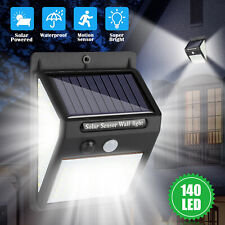 Motion Sensor Solar Power Wall Mounted Lights 140Led Outdoor Yard Garden Lamp Us