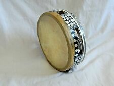 """Small Egyptian Tambourine Rik With Metal Cymbals 5.5"""" Great Price"""