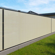 Beige 240GSM 3ft Privacy Screen Fence Commercial Windscreen Mesh Cover